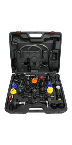 31-Piece Radiator Pressure Tester and Vacuum Type Cooling System Kit