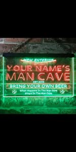 ADVPRO LED neon sign Personalized fonts text dual-color bright light man cave baseball game