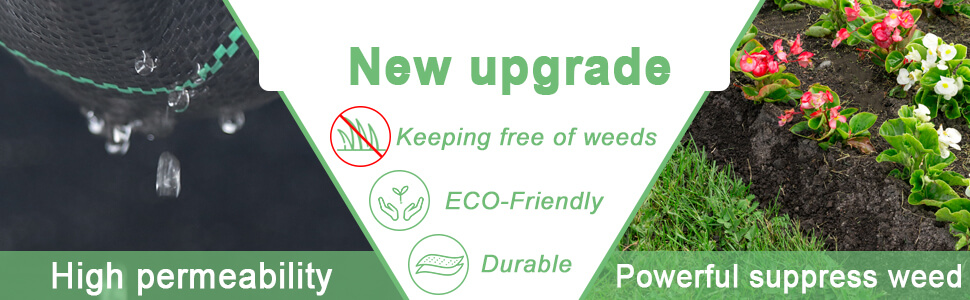 New upgrade, High permeability, water passes easily without harming plants , powerful suppress weed
