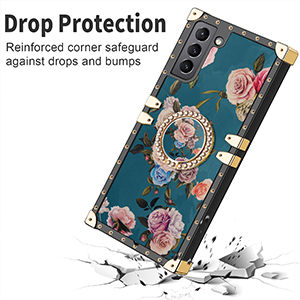 square case for galaxy s21 Plus case for women girls