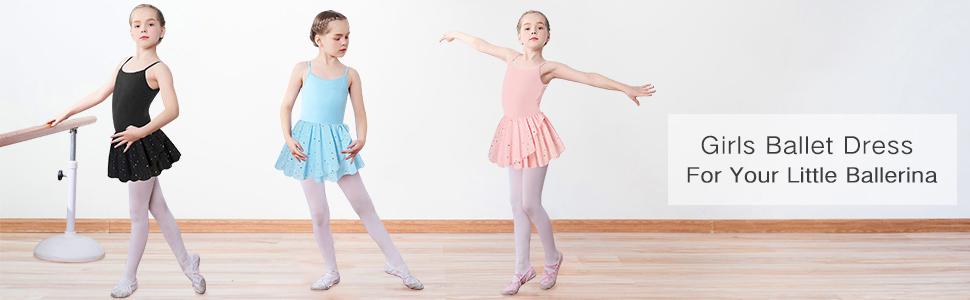 Girl Ballet Dance Dress with Tutu Skirt