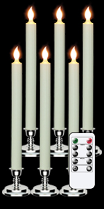 Silver Holders Flameless Window Candles