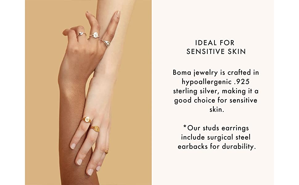 Boma Jewelry Sterling Silver Ideal for sensitive skin 925 sterling hypoallergenic
