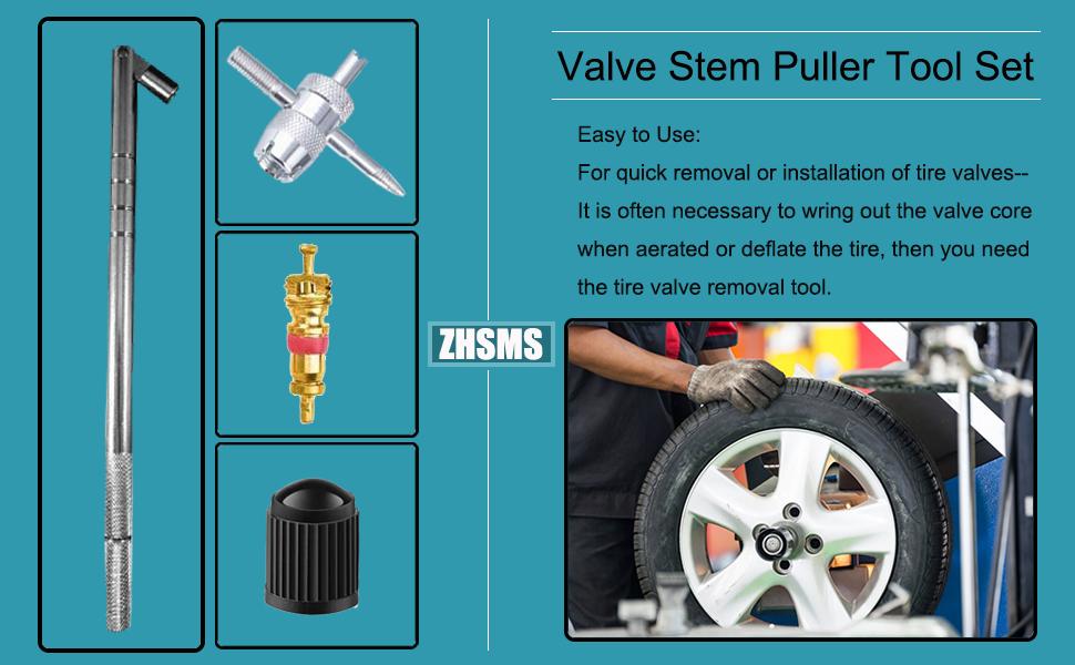 Four-in-one tool set Cores inside Car Tire//AC Plug Stem Installer Repair Tools