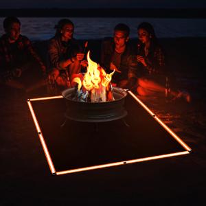 Amazon Com Fire Pit Mat 67 Inch X 60 Inch Fire Blanket Fireproof Mat Protect Your Deck Patio Grass Fire Pit Accessories Ember Mat Firepit Mat For Outdoor Fire Pit Fire Pit