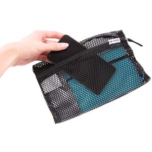 Black Packing cubes and mesh zip pouch for suitcases. Luggage organiser for travel backpacks closets