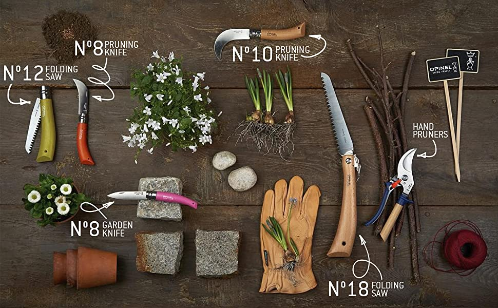 Opinel Garden Knive series saw pruners folding outdoor lawn vegetable farming fruit tools pocket