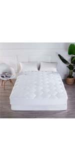 mattress pad king queen