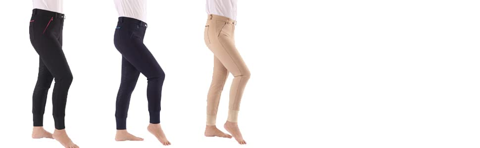 Amazon Com Hr Farm Women S Performance Full Seat Silicone Grip Breeches Clothing