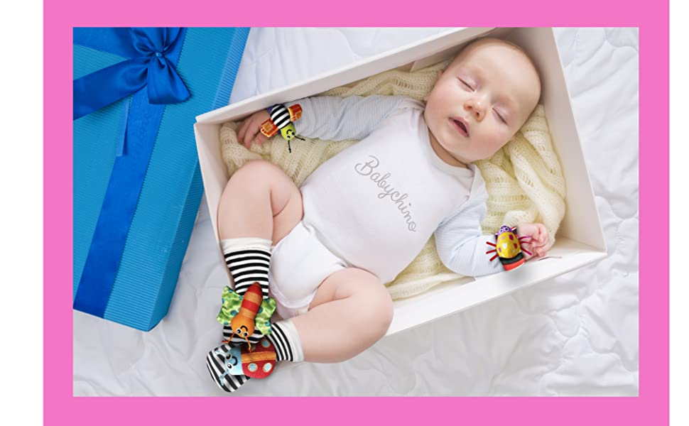 baby foot finder rattle socks wrist rattle toy girl boy infant newborn baby toys gifts developmental