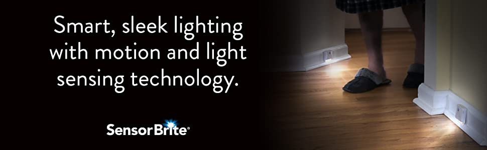Smart, sleek lighting with motion and light sensing technology.