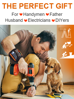Magnetic Wristband Best DIY Gift, Gifts Tool for Men Father Carpenter Men Gadgets Gifts for men tool