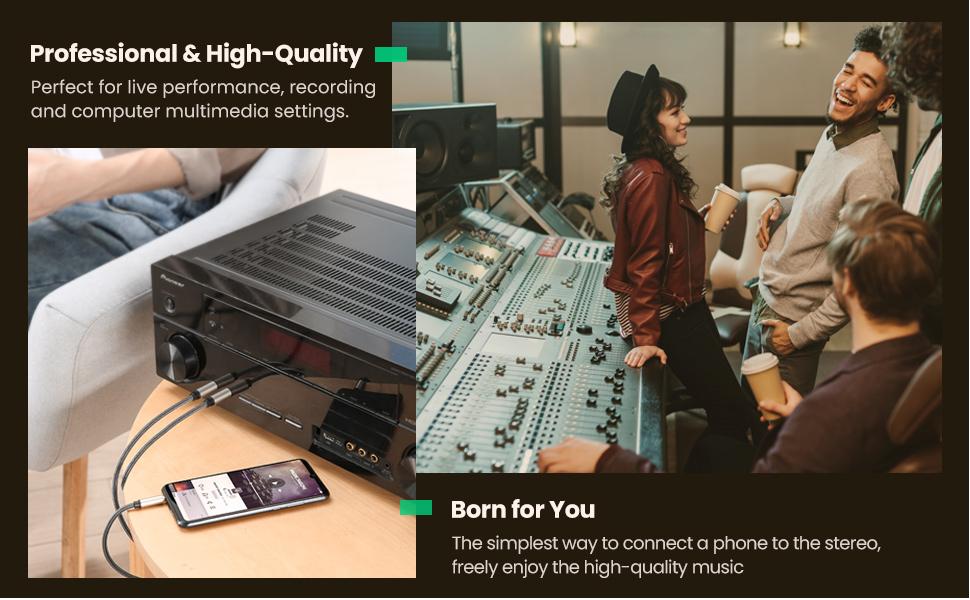 ugreen 1/4 to 1/8 audio splitter