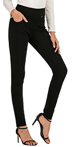 6001-Stretch Comfort Bussins Pants with Pockets