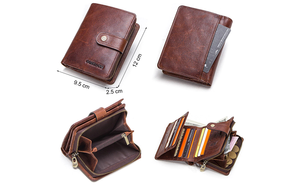 B08CRTB6B6 - CONTACTS Men's Genuine Leather RFID Blocking Wallet SPN-FOR1