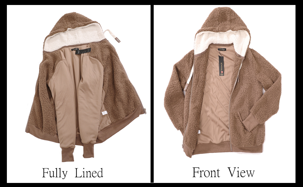 Front and back of the coat.
