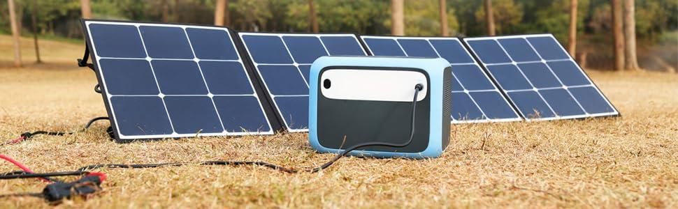 bluetti ac50s 500wh portable power station solar generator bluetti sp120 solar panel