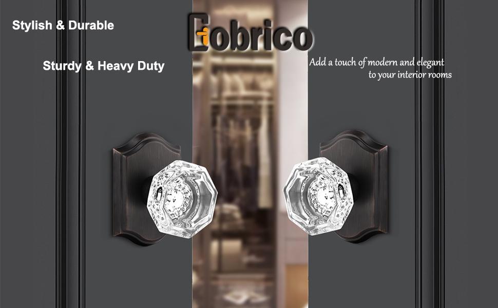 crystal single side door knobs