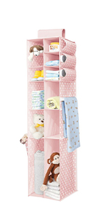 6 Shelf Fabric Kids Hanging Closet Nursery Organizer