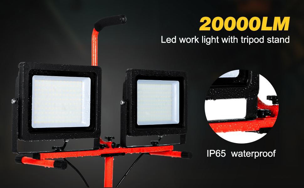 led work light with tripod stand