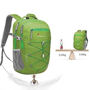 MOUNTAINTOP 22 litros Mochila de Trekking para Hombres Mujeres Mochila Ultraligera para Deportes al Aire Libre Mochilas de Senderismo Mochila Casual ...