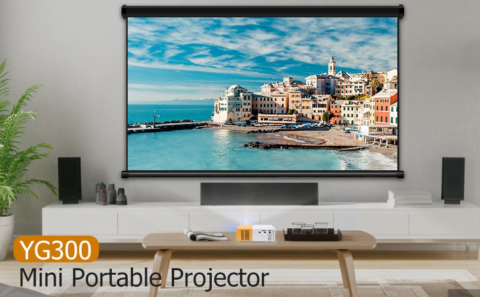 Meer YG300 Portable Mini LED P0rojector