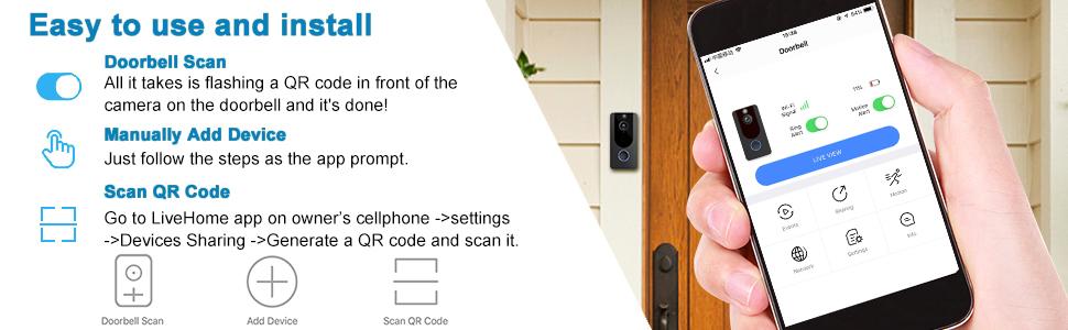 video doorbell door bell doorbell camera door camera smart doorbell doorbell video