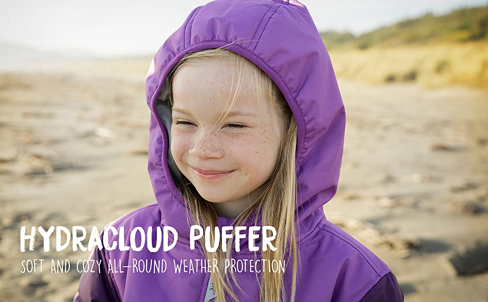 Purple Therm Girls Winter Coat Lightweight Waterproof Puffer Jacket with Magic Pattern Toddler Kids Youth