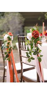 aisle chair flower