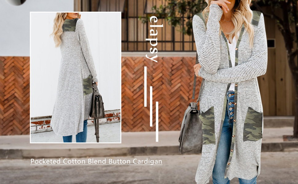 Open Front Long Knited Cardigan