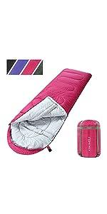 ASHOMELI sleeping bags for adults pink