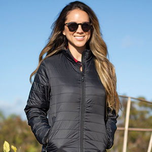 puffer jacket puff winter cold pack-able black style