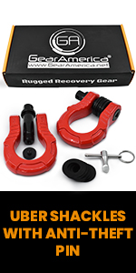 Anti-theft UBERLock System,Ubershackles, Anti-Theft Pin, off-road recovery, jeep rescue, GearAmerica