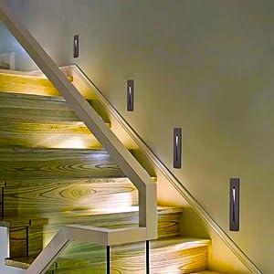 lámpara empotrable en la Pared iluminacion escalera empotrables suelo impermeable