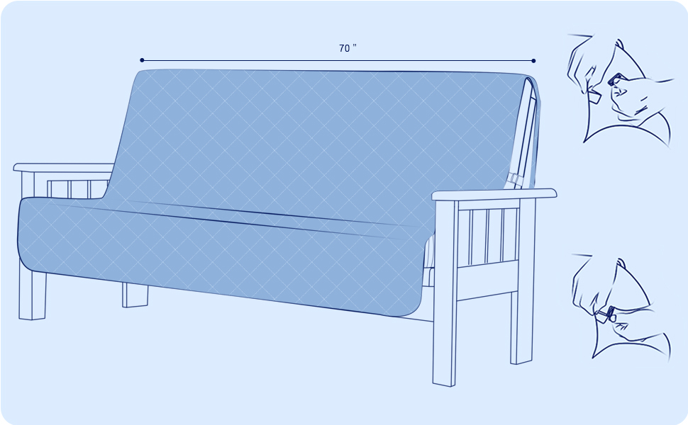 couch cover futon