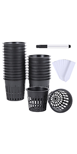 Net Pots Net Cups Plastic Garden Slotted Mesh Cup
