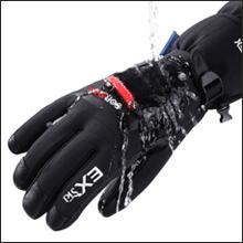 EXski Guanti Sci Invierno Pelle Uomo Guanti Caldo Impermeabili Snowboard Moto Neve Capra Uomo