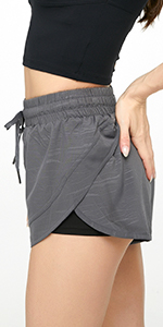 2 in 1 high-rise shorts