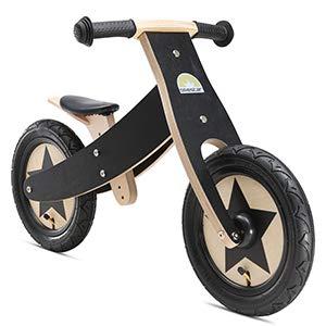 Bikestar - Bicicleta de Seguridad Original de Madera Ligera con neumáticos de Aire para niños de 3 años de Edad, Convertible de 12 Pulgadas, edición 2 en 1, Color Blanco: Amazon.es: Juguetes y juegos