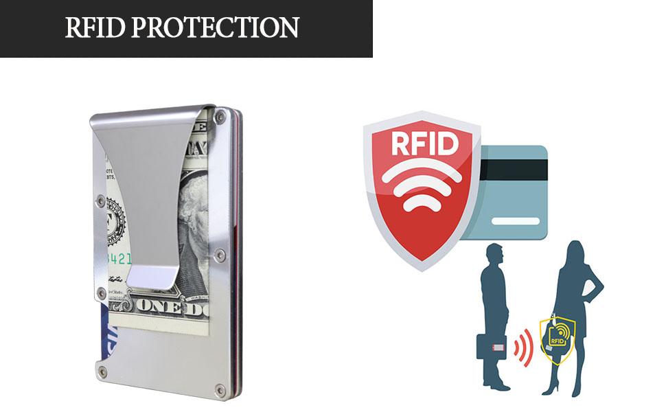 Minimalist Slim Aluminum Metal Wallet – Business Credit Card Holder slim rfid ridge sytlish carbon