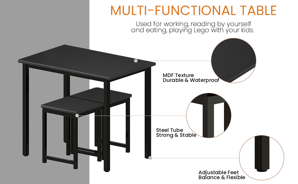 small dining table set for 2