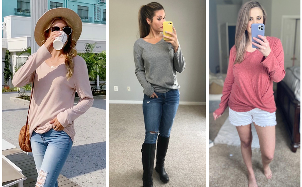womens tops long sleeve