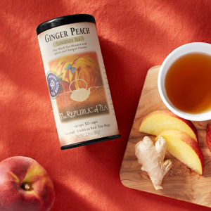 Ginger peach with ginger and peaches