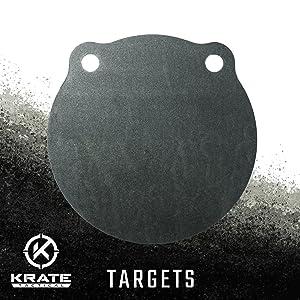 KRATE Tactical Ar500 Steel Shooting Targets