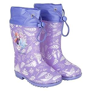 botas de lluvia de Frozen la reina del hielo con imagenes de Elsa y Anna para niñas