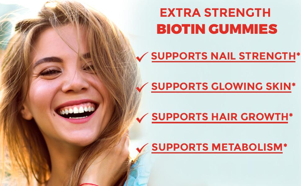 biotin gummies for hair and nail growth
