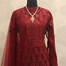Anarkali Semi-Stitched Gown for Woman,anarkali suit net,anarkali suit very simple,suits