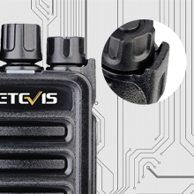 walkie talkies with knob protection