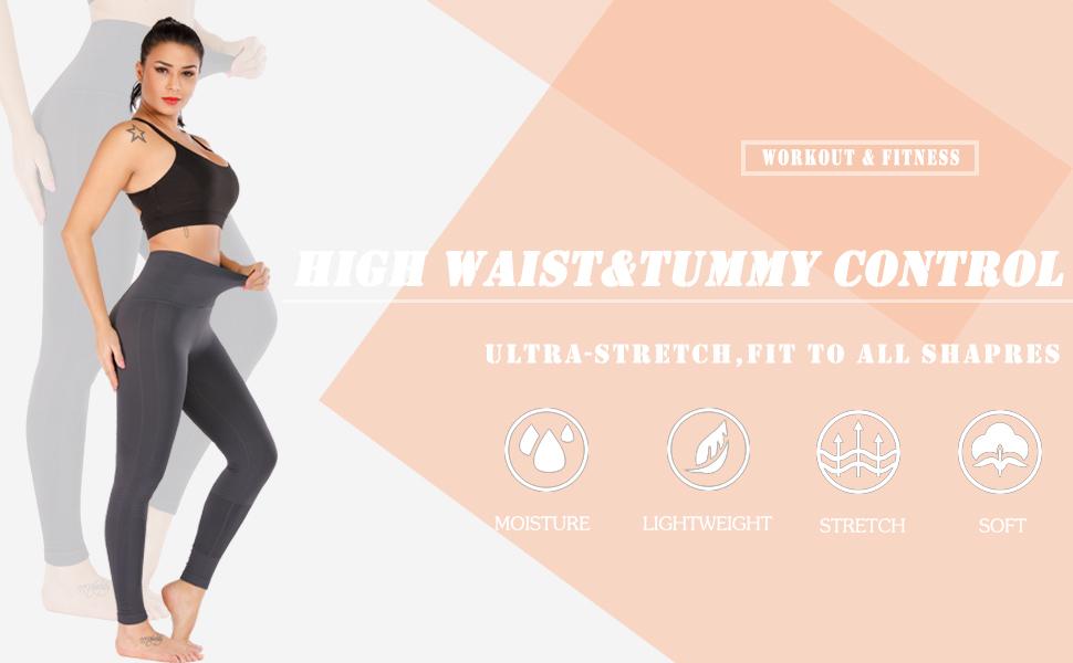 Stylish Poster Womens high Waisted Yoga Pants Gym Leggings