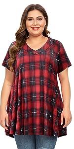 plus size plaid shirts